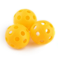 Longridge 6pk Yellow Airflow Practice Balls